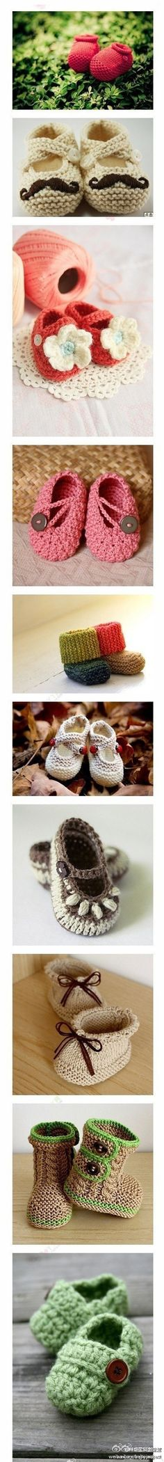 crotchet baby shoes.