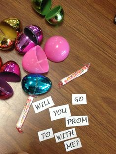 Easter egg hunt for asking someone to prom :) cute cute cute idea!