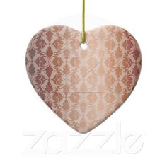 Vintage Damask Christmas Ornament from Zazzle.com