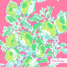 Lilly Pulitzer Summer '14- Pink Lemonade Print