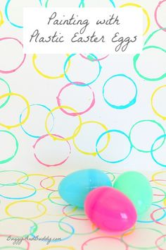 art paintings, easter crafts, plastic egg, easter eggs, preschool