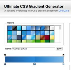 The ultimate css gradient generator http://www.colorzilla.com/gradient-editor/