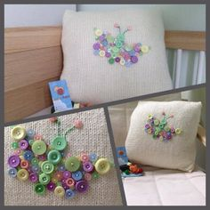 Butterfly Button Cushion