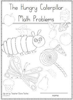 FREE - Hungry caterpillar math problems