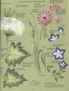 tutori, craft, painting flowers, one stroke painting, art, donna dewberri, leaf worksheetphoto, leaves, paint flower