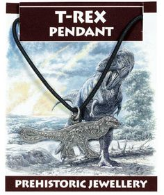 T. rex Skeleton Pendant from Everything Dinosaur, a clever idea.  Pendant is from £1.59 plus postage.