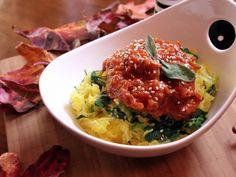 Spaghetti Squash w/ Moroccan Tomato Jam