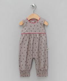 Grey & Pink Elk Print Rompersuit - Infant, Toddler & Kids