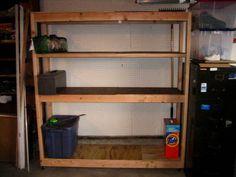 DIY Build a garage organizing shelf for $30!