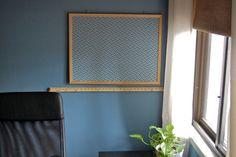 abric covered cork bulletin board