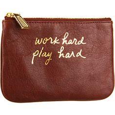 """""""work hard play hard"""" wallet"""