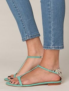 green shoes, snake, mint green, summer sandals, fashion shoes, color, girl fashion, flat, women's jeans