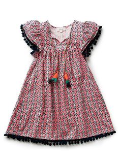 Girls Dresses  Tunics | Pom Pom Dress | Seed Heritage