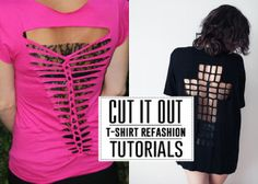 amazing t-shirt refashion tutorials