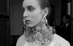 Look at London Fashion Week: Face Jewelry