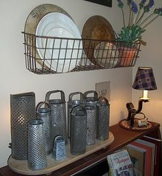 Love graters! wire baskets