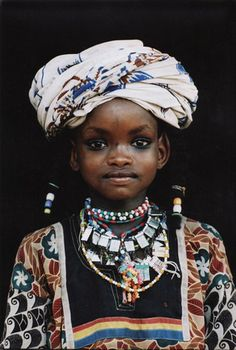 A Young Wodaabe girl - By Marie-Loure de Decker