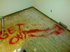A joke for the next people to redo the carpet! I would crap myself!