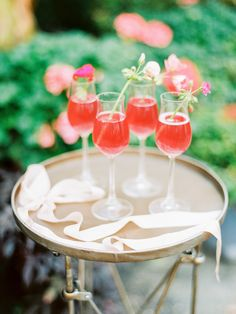 colorful drinks, photo by Love by Serena, styling by Sarah Park Events http://ruffledblog.com/oatlands-plantation-wedding-inspiration #reception #wedding