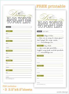 blog topics post list