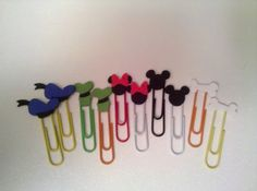 Disney's Fab Five Embellished Paper Clips: Mickey, Minnie, Pluto, Goofy, Donald