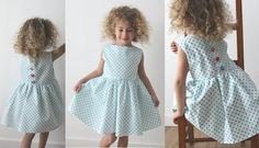 Patron de couture gratuit pour enfant, tuto une robe rétro - couture facile pour coudre une robe rétro pour enfant