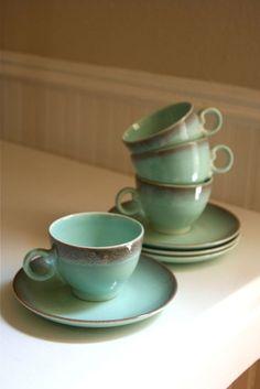 tea cups robins egg blue
