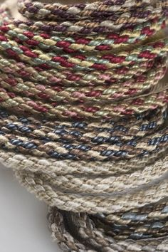 "Charles Faudree Passementerie Trimmings collection: Lyonnais is a 1/4"" diameter cord that displays mingled colors in a wonderfully nubby textured construction. #charlesfaudree #stroheim #trimmings"