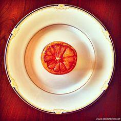 Broiled Grapefruit! This looks SO good - it's easy too!! #MyVeganJournal