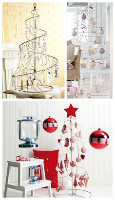 Spiral wire trees, but as a place to hang Christmas cards as you get them.