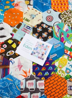 Hexagon I Spy Quilt: Keep on stitchin'