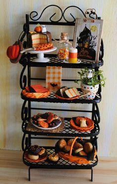 Halloween Miniature Baker's Rack (1:12 scale)