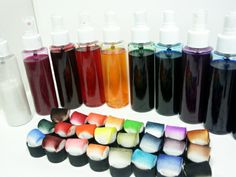Make your own spray inks and daubers - great to use on bags