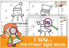 I spy...Sight Words Pre-Primer List from Ingles360 on TeachersNotebook.com -  (6 pages)  - I spy... packs are a great way to get your kids reviewing and consolidating Sight Words while having fun!