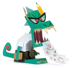 Rottenbottom: The Teacher Creature    papertoy contribution to Workman's Papertoy Monsters book by Castleforte.