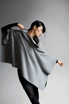Eileen Fisher - I have this poncho in pomegranate and absolutely LOVE it!