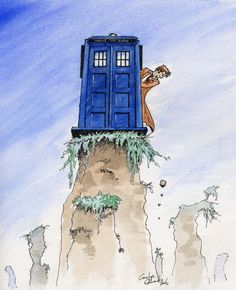 Parking the TARDIS can be tricky! (I know the TARDIS doesn't technically move :-)
