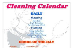 A Cleaning Calendar You Can't Live Without