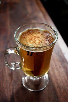 Hot Caramel Buttered Rum with Van Gogh Dutch Caramel Vodka.
