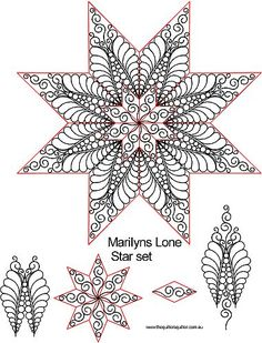 The Quilter's Quilter :: Digital Quilting Patterns :: Specific Blocks :: Marilyns Lone Star Set