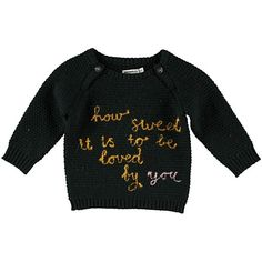 imps and elfs black loved sweater