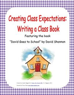 Book Activity: David Goes to School FREE