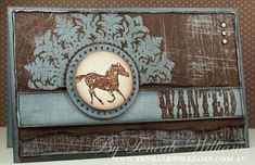 Teneale Williams: medallion,sanded, and wanted stamps