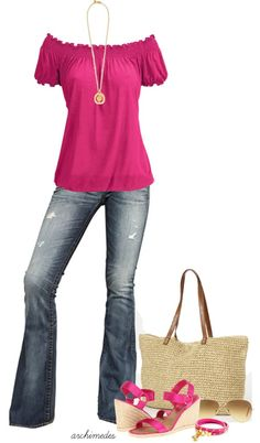 """Fuschia for Summer"" by archimedes16 on Polyvore"