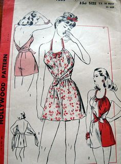 1940s playsuit