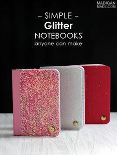 glitter cover, cover notebook, simpl glitter