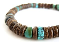Tribal turquoise bracelet by Jenny Hoople of Authentic Arts