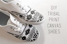 DIY Tribal Print Canvas Shoes