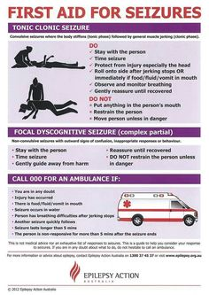 Excellent poster with straight forward instructions for first aid measures for seizures