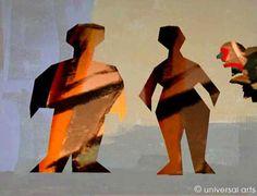 """Mario Strack - """"Society 3"""" 1999 original graphic Artcard"""